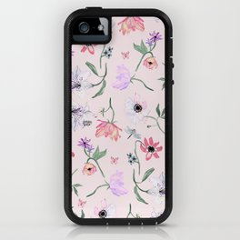 PINK LILY PRINT iPhone Case