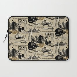 Murder on the Orient Express (Agatha Christie) Toile de Jouy Laptop Sleeve