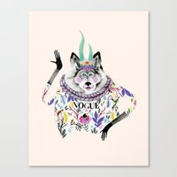 vogue Canvas Prints featuring Vogue by Tania Orozco