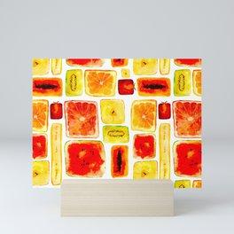 Juicy cubism Mini Art Print
