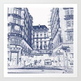 The Savoy Hotel, London Art Print