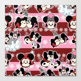 Tsum tsum pattern Canvas Print