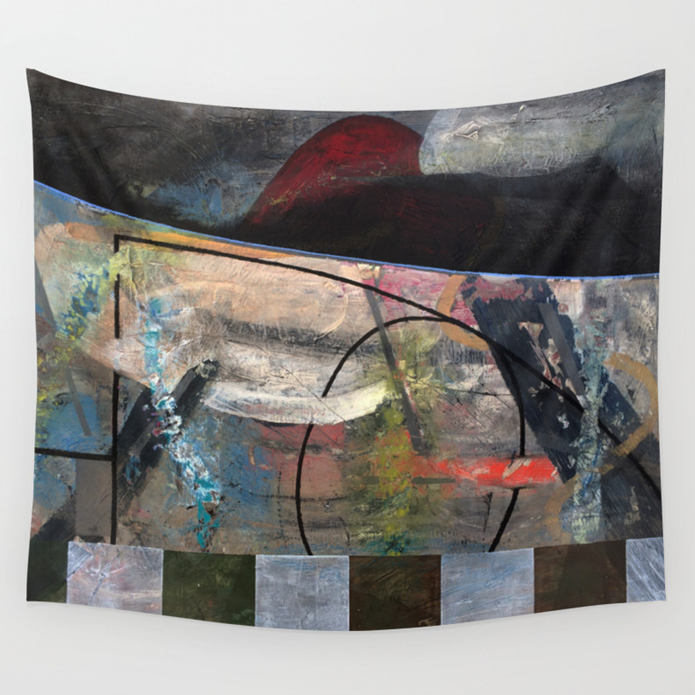 My Garden With A Mountain View (oil On Canvas) Wall Tapestry by Antonioortiz TPS7513508