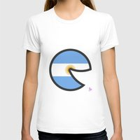argentina T-shirts featuring Argentina Smile by onejyoo