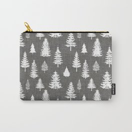 Pine Forest on Dark Linen Carry-All Pouch