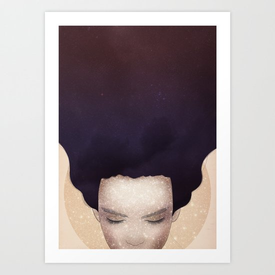 You Are My Galaxy Art Print