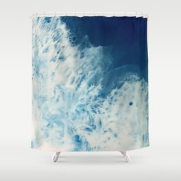 Bright, White, Frothy Ocean Surf Shower Curtain