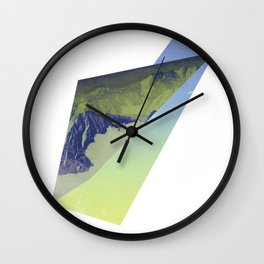 Triangle Mountains Wall Clock