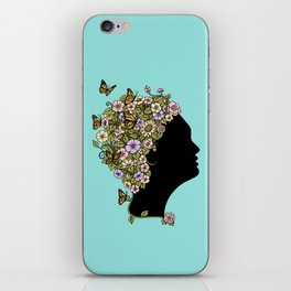 Floral Lady iPhone Skin