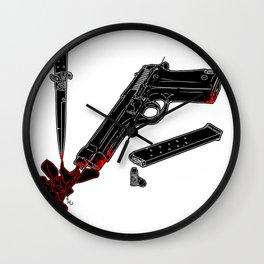 Guns and Posers Wall Clock