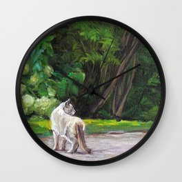 What the Cat Sees By the Hot Glass Studio Hydrangea Wall Clock