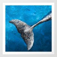 Dolphin tail Art Print