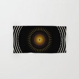 Modern Circular Abstract with Gold Mandala Hand & Bath Towel