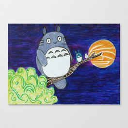 Midnight Totoro Canvas Print