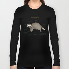 Anatomy of a Raccoon Long Sleeve T-shirt