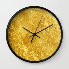Golden Texture #lifestyle #society6 Wall Clock