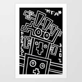my.a.n. calendar. Art Print