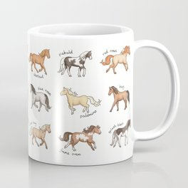 Horses - different colours and markings illustration Coffee Mug