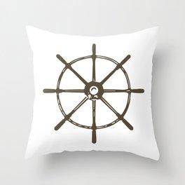 Ships Wheel Throw Pillow