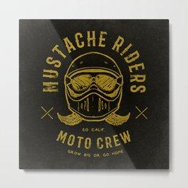 Mustache Riders Moto Crew Metal Print