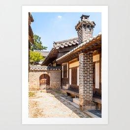 Scholar's Area, Changdeokgung Palace, Seoul Art Print