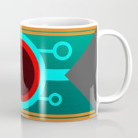 transistor Mugs featuring Think anyone else is in here? by Jessa