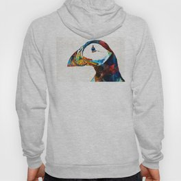 Colorful Puffin Art By Sharon Cummings Hoody