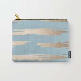 Abstract Paint Stripes Gold Tropical Ocean Sea Blue Carry-All Pouch