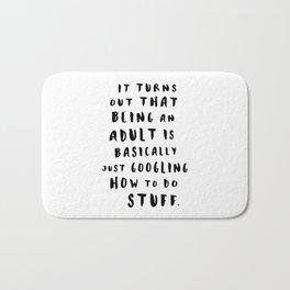 Being An Adult Bath Mat
