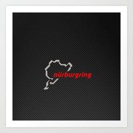 Nürburgring Carbon Art Print