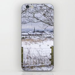 A snowy view to Wardle iPhone Skin