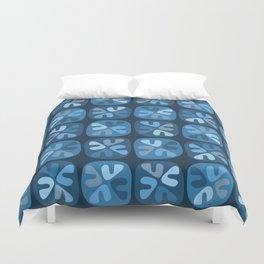 blue boomerangs Duvet Cover