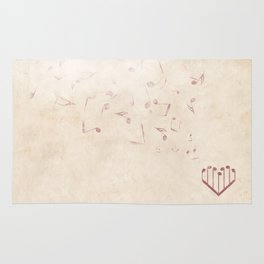 Music Heart old paper Rug