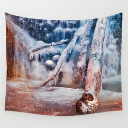Frozen Avalon Fantasy Falls Wall Tapestry