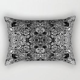 Black & white glass mosaic Rectangular Pillow