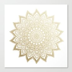 BOHO NIGHTS GOLD MANDALA Canvas Print