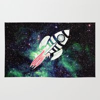 spaceship Area & Throw Rugs featuring Spaceship by Cs025