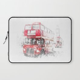 Graphic Art LONDON WESTMINSTER Street Scene Laptop Sleeve