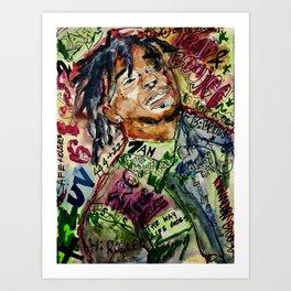 colorful hiphop,poster,lil,rap,artist,music,lyrics,colourful,poster,cool,dope,print,uzi Kunstdrucke
