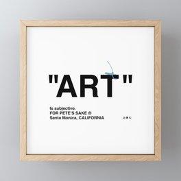 """""""ART"""" Framed Mini Art Print"""