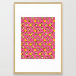 Retro Lemon Pop Framed Art Print