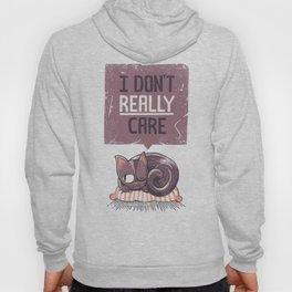 I Dont Care Cat Hoody