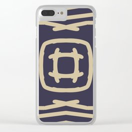 Medallion Eclipse & Soybean Clear iPhone Case