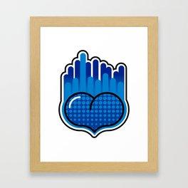 Plasma BlueHeart Framed Art Print