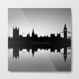 Houses of Parliament, Westminster, London Metal Print