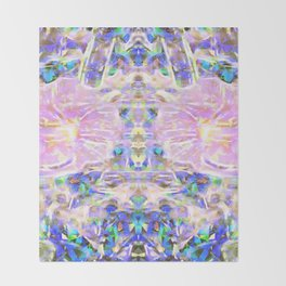 Flower Dimension Throw Blanket
