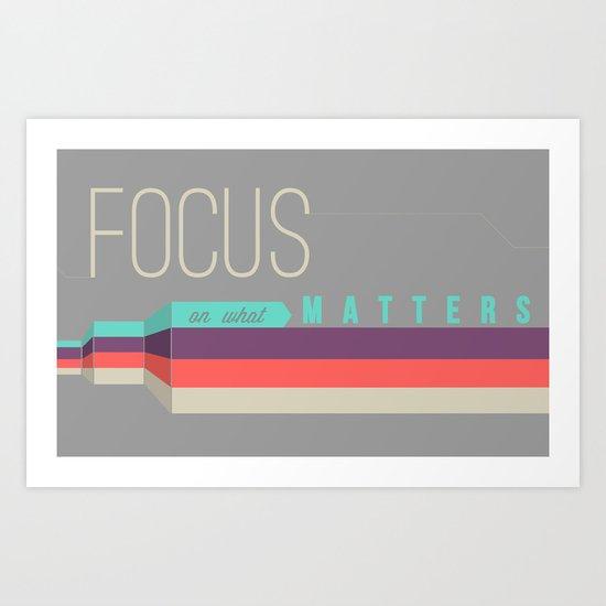 Focus Poster Art Print