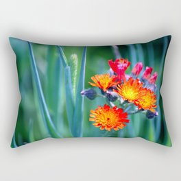 Fire Colors in the Greenery Rectangular Pillow