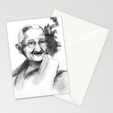 Will & Strength (Ghandi) by carographic Stationery Cards