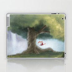 Swinging under a big tree Laptop & iPad Skin